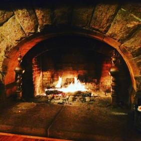 Fireplace inside Dalvay by the Sea